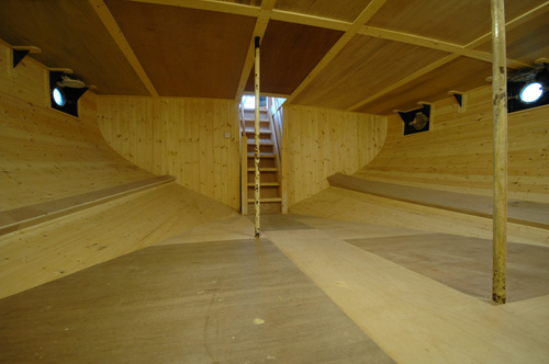 this cabin is 6m long-5m wide