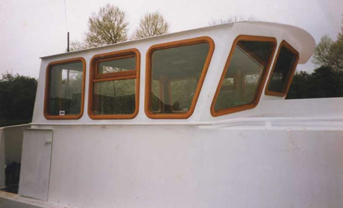steel wheelhouse with hardwood windows